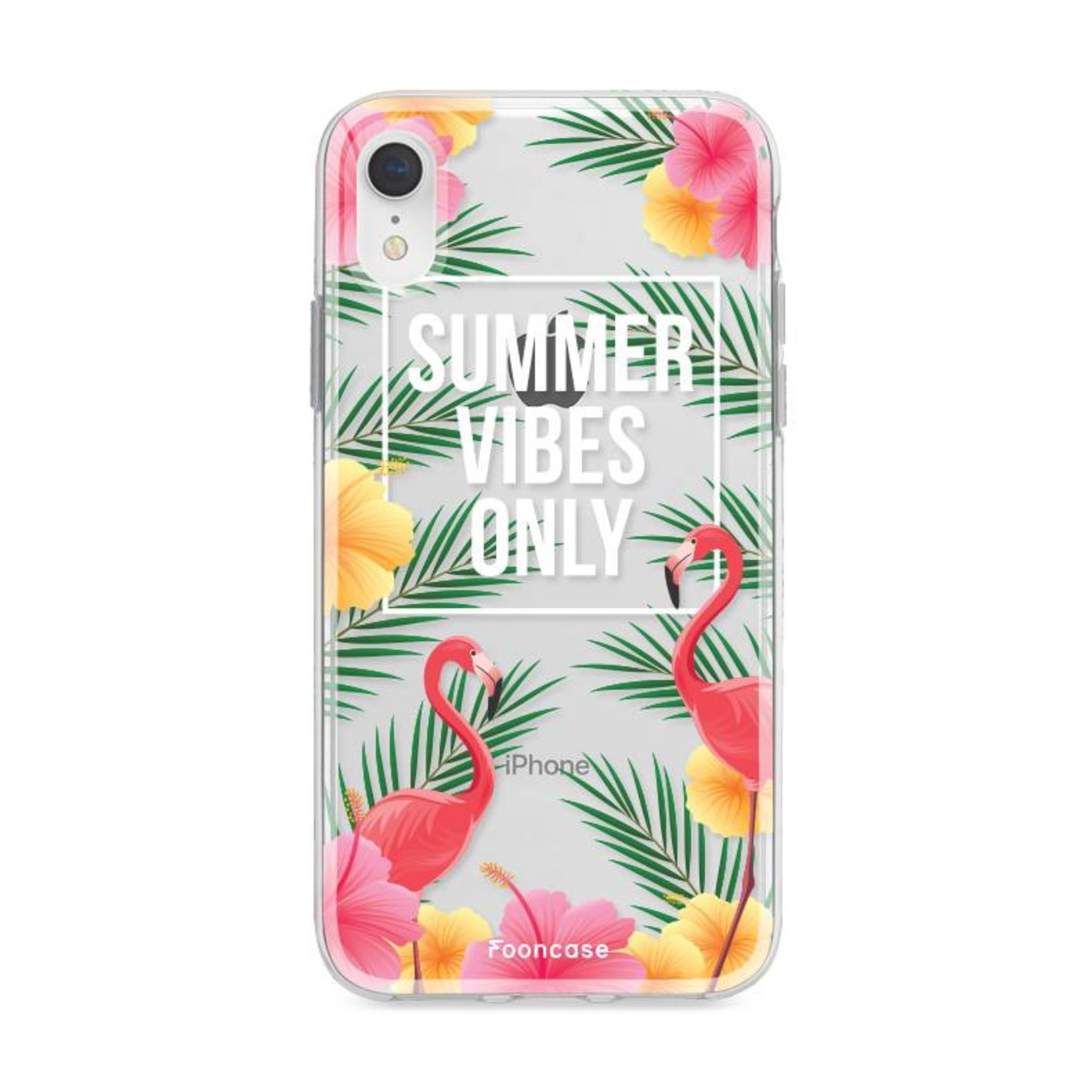 FOONCASE iPhone XR hoesje TPU Soft Case - Back Cover - Summer Vibes Only