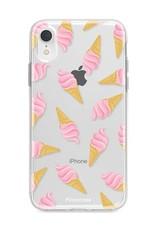 FOONCASE iPhone XR hoesje TPU Soft Case - Back Cover - Ice Ice Baby / Ijsjes / Roze ijsjes