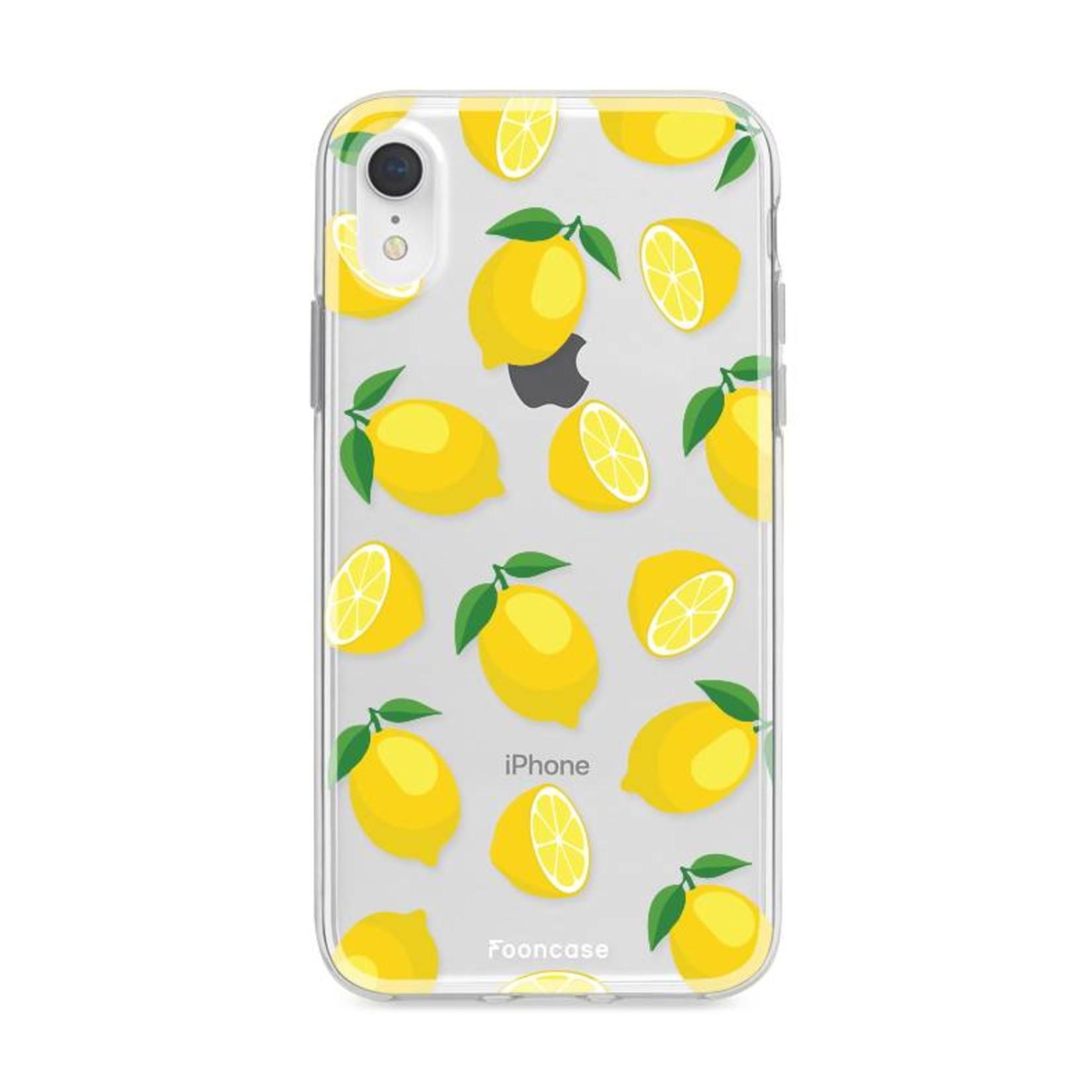 FOONCASE iPhone XR hoesje TPU Soft Case - Back Cover - Lemons / Citroen / Citroentjes