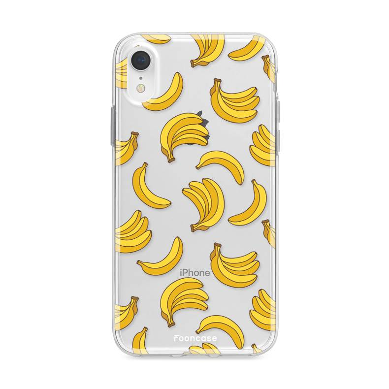 FOONCASE iPhone XR hoesje TPU Soft Case - Back Cover - Bananas / Banaan / Bananen
