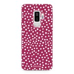 FOONCASE Samsung Galaxy S9 Plus - POLKA COLLECTION / Red