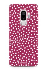 FOONCASE Samsung Galaxy S9 Plus hoesje TPU Soft Case - Back Cover - POLKA COLLECTION / Stipjes / Stippen / Rood