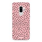 FOONCASE Samsung Galaxy S9 Plus - POLKA COLLECTION / Rosa