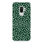 FOONCASE Samsung Galaxy S9 Plus - POLKA COLLECTION / Dark green