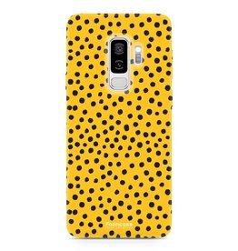 FOONCASE Samsung Galaxy S9 Plus - POLKA COLLECTION / Giallo ocra