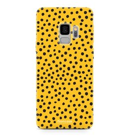 FOONCASE Samsung Galaxy S9 - POLKA COLLECTION / Oker Geel