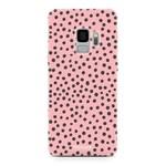 FOONCASE Samsung Galaxy S9 - POLKA COLLECTION / Rosa