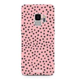 FOONCASE Samsung Galaxy S9 - POLKA COLLECTION / Pink