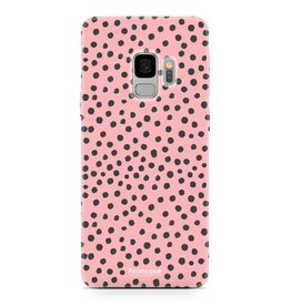 FOONCASE Samsung Galaxy S9 - POLKA COLLECTION / Roze