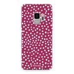 FOONCASE Samsung Galaxy S9 - POLKA COLLECTION / Rot