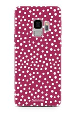 FOONCASE Samsung Galaxy S9 hoesje TPU Soft Case - Back Cover - POLKA COLLECTION / Stipjes / Stippen / Rood