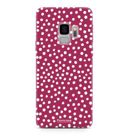 FOONCASE Samsung Galaxy S9 - POLKA COLLECTION / Rood