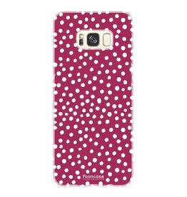 FOONCASE Samsung Galaxy S8 - POLKA COLLECTION / Red