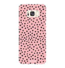 FOONCASE Samsung Galaxy S8 - POLKA COLLECTION / Roze