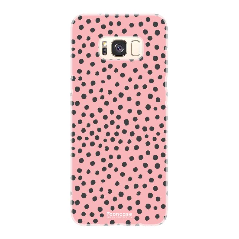 FOONCASE Samsung Galaxy S8 hoesje TPU Soft Case - Back Cover - POLKA COLLECTION / Stipjes / Stippen / Roze