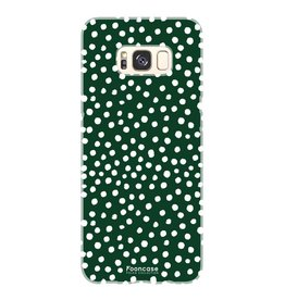 FOONCASE Samsung Galaxy S8 - POLKA COLLECTION / Donker Groen