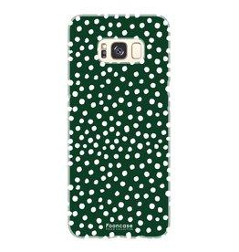 FOONCASE Samsung Galaxy S8 - POLKA COLLECTION / Dunkelgrün
