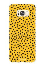 FOONCASE Samsung Galaxy S8 Plus hoesje TPU Soft Case - Back Cover - POLKA COLLECTION / Stipjes / Stippen / Oker Geel