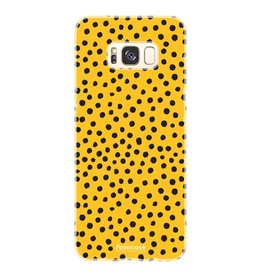 FOONCASE Samsung Galaxy S8 Plus - POLKA COLLECTION / Ocher Yellow
