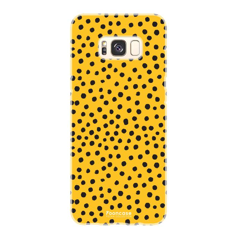 FOONCASE Samsung Galaxy S8 Plus - POLKA COLLECTION / Ockergelb