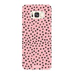 FOONCASE Samsung Galaxy S8 Plus - POLKA COLLECTION / Pink