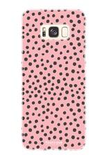 FOONCASE Samsung Galaxy S8 Plus hoesje TPU Soft Case - Back Cover - POLKA COLLECTION / Stipjes / Stippen / Roze