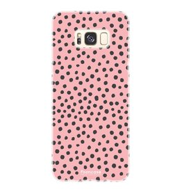 FOONCASE Samsung Galaxy S8 Plus - POLKA COLLECTION / Roze
