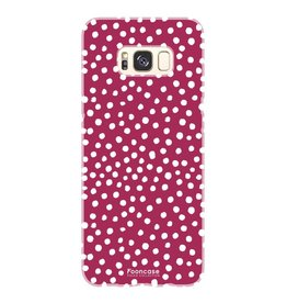 FOONCASE Samsung Galaxy S8 Plus - POLKA COLLECTION / Rot
