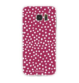 FOONCASE Samsung Galaxy S7 Edge - POLKA COLLECTION / Rood