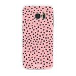 FOONCASE Samsung Galaxy S7 Edge - POLKA COLLECTION / Pink