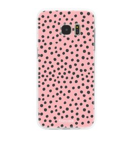 FOONCASE Samsung Galaxy S7 Edge - POLKA COLLECTION / Rosa