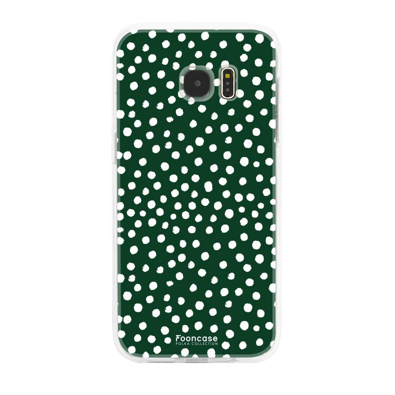 Samsung Samsung Galaxy S7 Edge - POLKA COLLECTION / Dunkelgrün