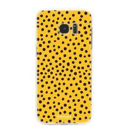 FOONCASE Samsung Galaxy S7 Edge - POLKA COLLECTION / Giallo ocra