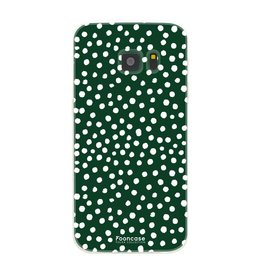 FOONCASE Samsung Galaxy S7 - POLKA COLLECTION / Donker Groen