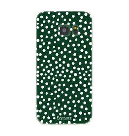 FOONCASE Samsung Galaxy S7 - POLKA COLLECTION / Dunkelgrün