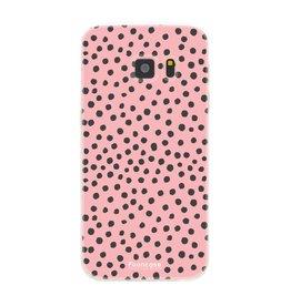 FOONCASE Samsung Galaxy S7 - POLKA COLLECTION / Rosa