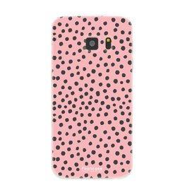 FOONCASE Samsung Galaxy S7 - POLKA COLLECTION / Roze