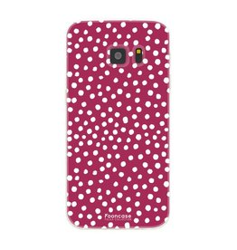 FOONCASE Samsung Galaxy S7 - POLKA COLLECTION / Rood