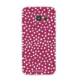 FOONCASE Samsung Galaxy S7 - POLKA COLLECTION / Rosso