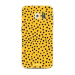 FOONCASE Samsung Galaxy S6 Edge - POLKA COLLECTION / Ocher Yellow