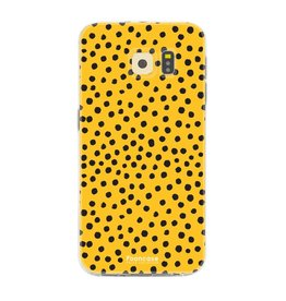 FOONCASE Samsung Galaxy S6 Edge - POLKA COLLECTION / Oker Geel
