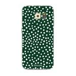 FOONCASE Samsung Galaxy S6 Edge - POLKA COLLECTION / Dark green