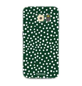 FOONCASE Samsung Galaxy S6 Edge - POLKA COLLECTION / Verde scuro