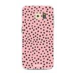 FOONCASE Samsung Galaxy S6 Edge - POLKA COLLECTION / Rosa