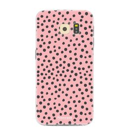 FOONCASE Samsung Galaxy S6 Edge - POLKA COLLECTION / Pink