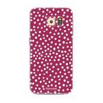FOONCASE Samsung Galaxy S6 Edge - POLKA COLLECTION / Red