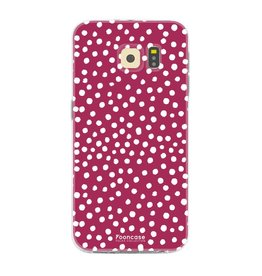FOONCASE Samsung Galaxy S6 Edge - POLKA COLLECTION / Rood