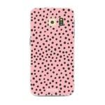 FOONCASE Samsung Galaxy S6 - POLKA COLLECTION / Roze