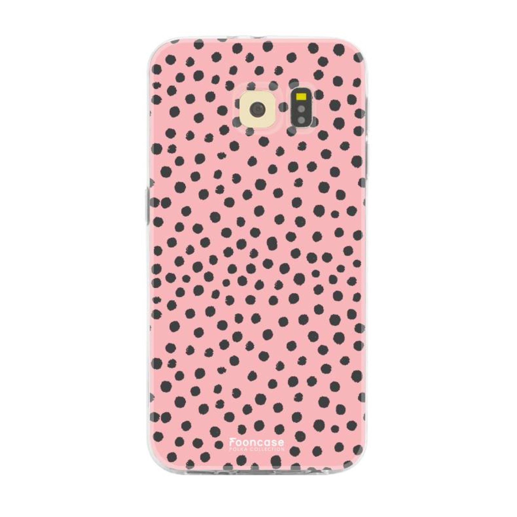 FOONCASE Samsung Galaxy S6 hoesje TPU Soft Case - Back Cover - POLKA COLLECTION / Stipjes / Stippen / Roze