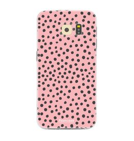 FOONCASE Samsung Galaxy S6 - POLKA COLLECTION / Pink